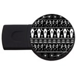 Halloween pattern USB Flash Drive Round (2 GB) Front