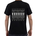 Halloween pattern Men s T-Shirt (Black) (Two Sided) Back