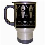 Halloween pattern Travel Mug (Silver Gray) Left