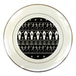 Halloween pattern Porcelain Plates Front