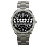 Halloween pattern Sport Metal Watch Front