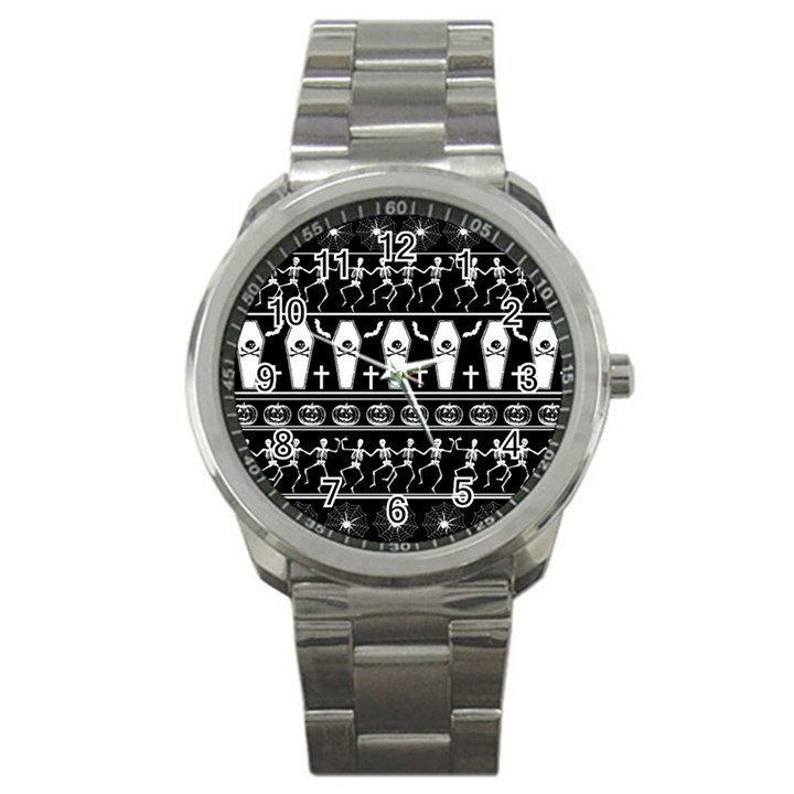 Halloween pattern Sport Metal Watch
