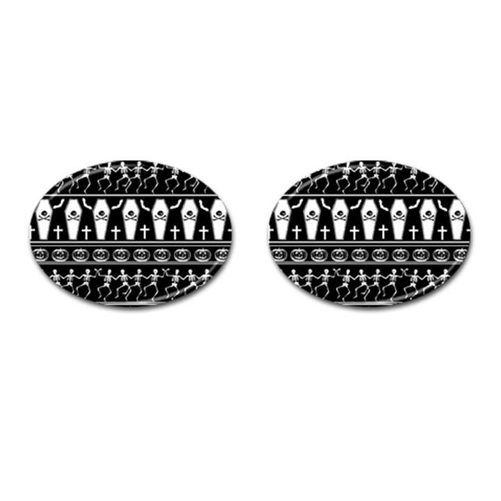 Halloween pattern Cufflinks (Oval)