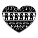 Halloween pattern Heart Mousepads Front