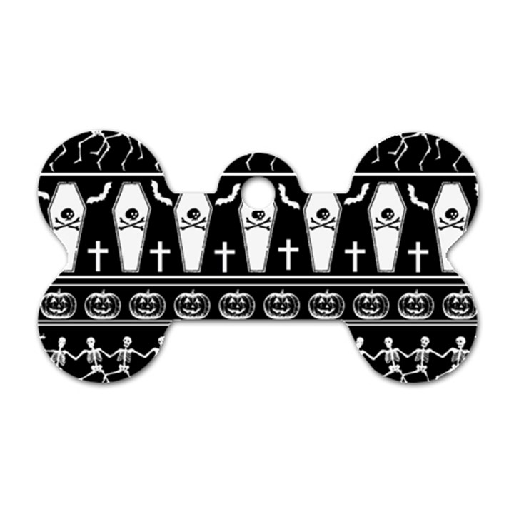 Halloween pattern Dog Tag Bone (Two Sides)