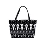 Halloween pattern Shoulder Handbags Back