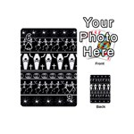 Halloween pattern Playing Cards 54 (Mini)  Front - Spade6