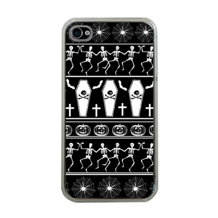 Halloween pattern Apple iPhone 4 Case (Clear)