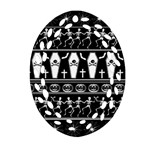 Halloween pattern Oval Filigree Ornament (Two Sides) Back