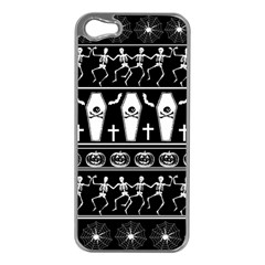 Halloween Pattern Apple Iphone 5 Case (silver)