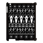 Halloween pattern Apple iPad 3/4 Case (Black) Front