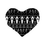Halloween pattern Standard 16  Premium Heart Shape Cushions Back