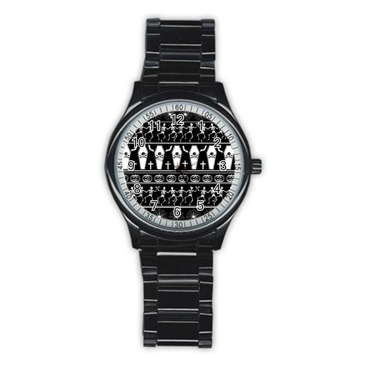 Halloween pattern Stainless Steel Round Watch