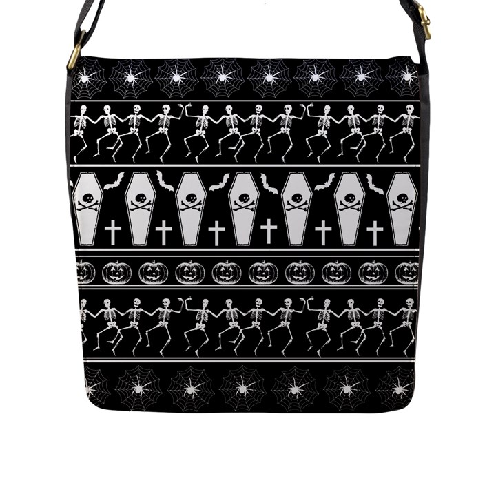 Halloween pattern Flap Messenger Bag (L)