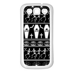 Halloween Pattern Samsung Galaxy S3 Back Case (white)