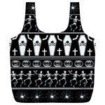 Halloween pattern Full Print Recycle Bags (L)  Back