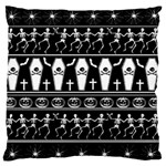 Halloween pattern Large Flano Cushion Case (Two Sides) Back