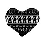 Halloween pattern Standard 16  Premium Flano Heart Shape Cushions Back