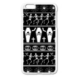 Halloween pattern Apple iPhone 6 Plus/6S Plus Enamel White Case Front