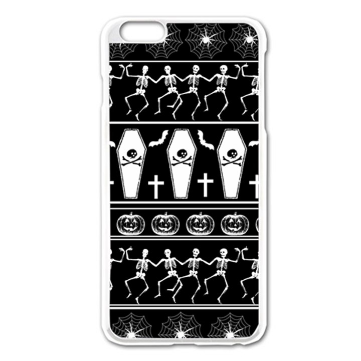Halloween pattern Apple iPhone 6 Plus/6S Plus Enamel White Case