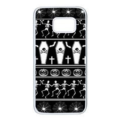 Halloween Pattern Samsung Galaxy S7 White Seamless Case