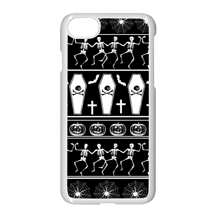 Halloween pattern Apple iPhone 7 Seamless Case (White)