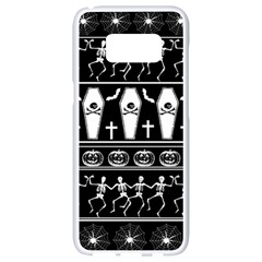 Halloween Pattern Samsung Galaxy S8 White Seamless Case