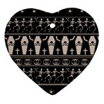 Halloween pattern Ornament (Heart) Front
