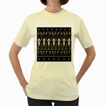 Halloween pattern Women s Yellow T-Shirt Front