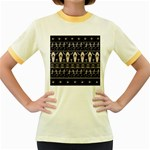 Halloween pattern Women s Fitted Ringer T-Shirts Front