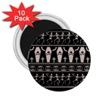 Halloween pattern 2.25  Magnets (10 pack)  Front