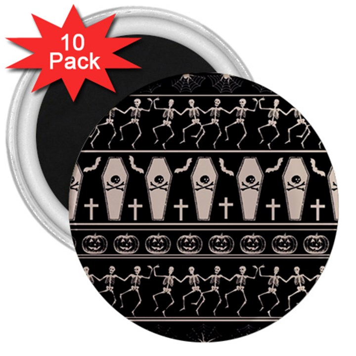 Halloween pattern 3  Magnets (10 pack)