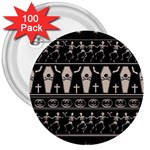 Halloween pattern 3  Buttons (100 pack)  Front