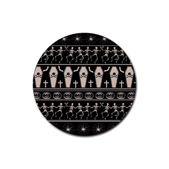 Halloween pattern Rubber Coaster (Round)