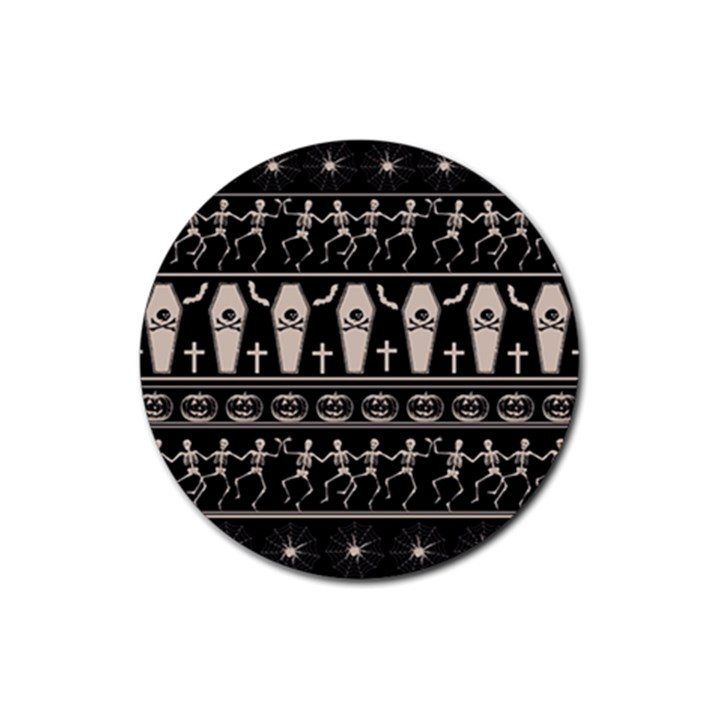 Halloween pattern Rubber Round Coaster (4 pack)