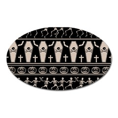 Halloween Pattern Oval Magnet