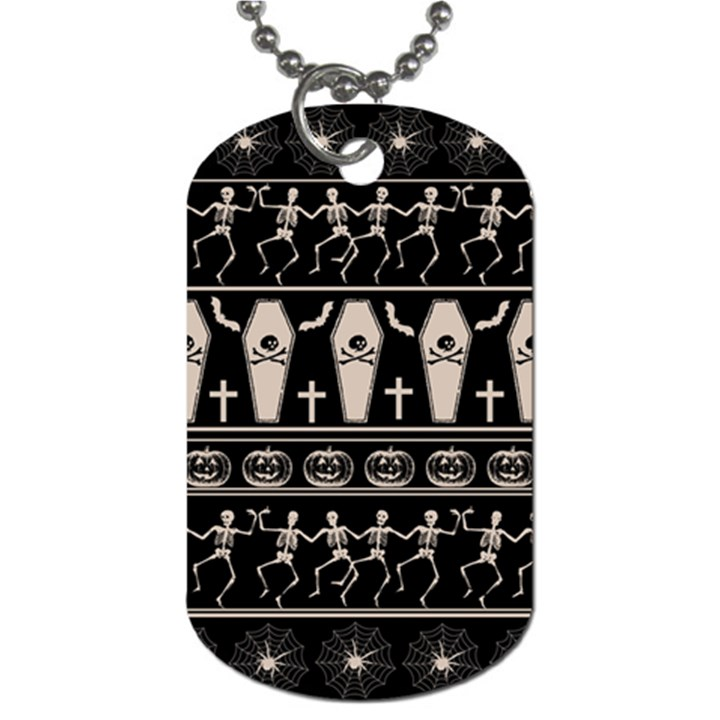 Halloween pattern Dog Tag (One Side)