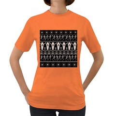 Halloween Pattern Women s Dark T Shirt
