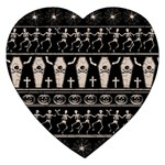 Halloween pattern Jigsaw Puzzle (Heart) Front