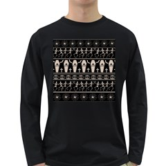 Halloween Pattern Long Sleeve Dark T Shirts