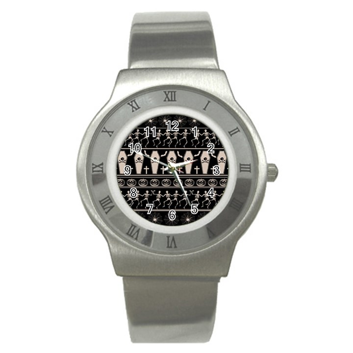 Halloween pattern Stainless Steel Watch