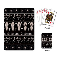 Halloween Pattern Playing Card