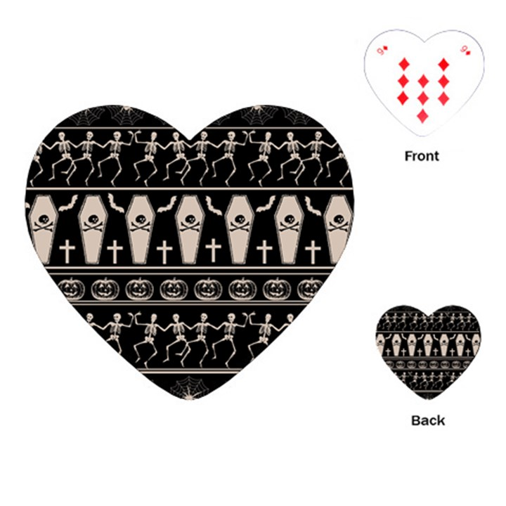 Halloween pattern Playing Cards (Heart)