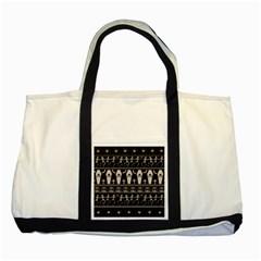 Halloween Pattern Two Tone Tote Bag