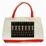 Halloween pattern Classic Tote Bag (Red) Front