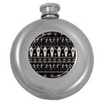 Halloween pattern Round Hip Flask (5 oz) Front
