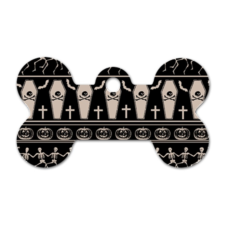 Halloween pattern Dog Tag Bone (One Side)