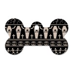 Halloween pattern Dog Tag Bone (Two Sides) Front