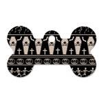 Halloween pattern Dog Tag Bone (Two Sides) Back