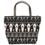 Halloween pattern Bucket Bags Back